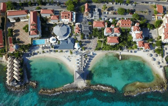 Drone footage of Avila Beach Hotel | Curacao