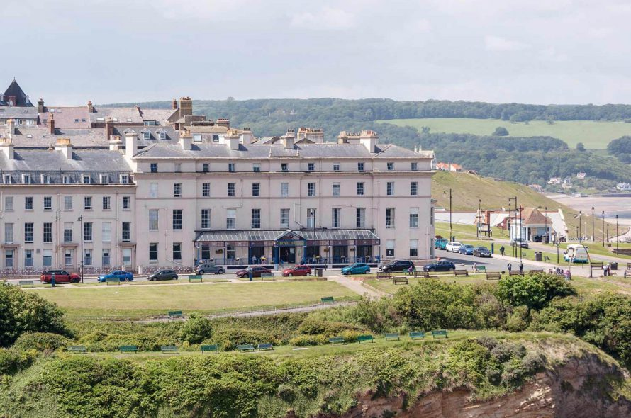 Drone footage of Bay Royal Hotel | United Kingdom
