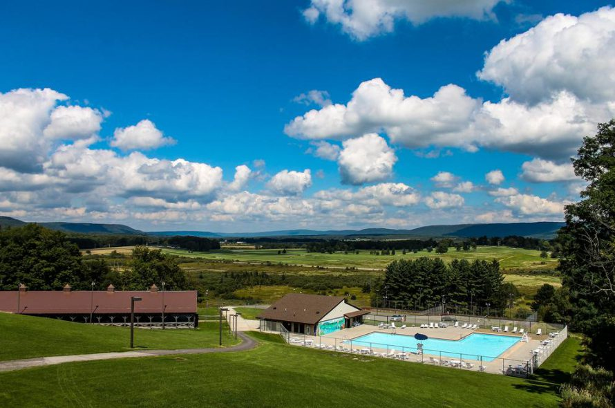 Drone footage of Canaan Valley Resort State Park | USA