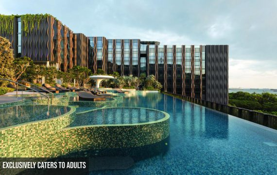 The Outpost Hotel Sentosa by Drone | Singapore