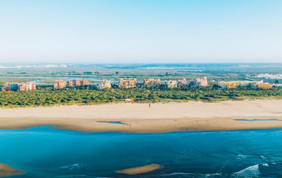 Drone flight over Iberostar Isla Canela | Spain