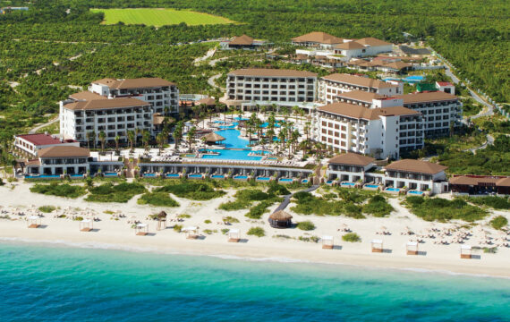 Drone flight over Secrets Playa Mujeres Golf & Spa Resort | Mexico