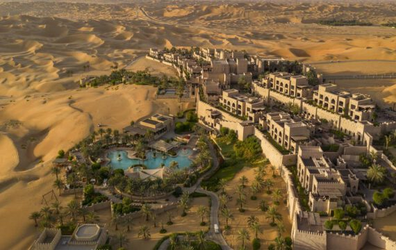 Anantara Qasr al Sarab Desert Resort | Fly-over | UAE